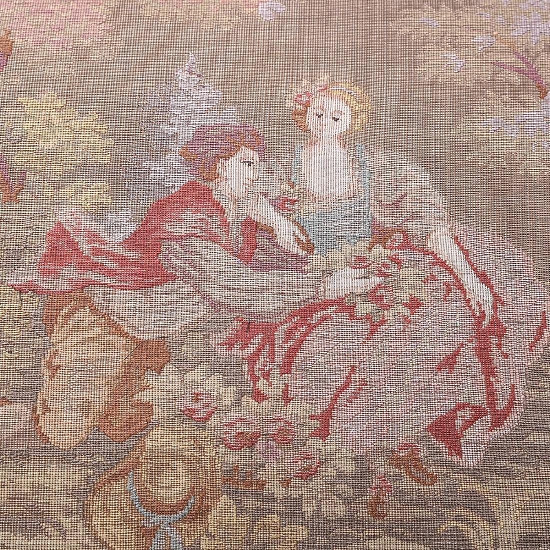 Rococo Style Tapestry Upholstered Bench, with Heavily - 4