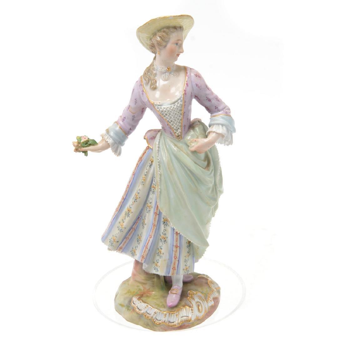 Meissen Porcelain Figure of Lady