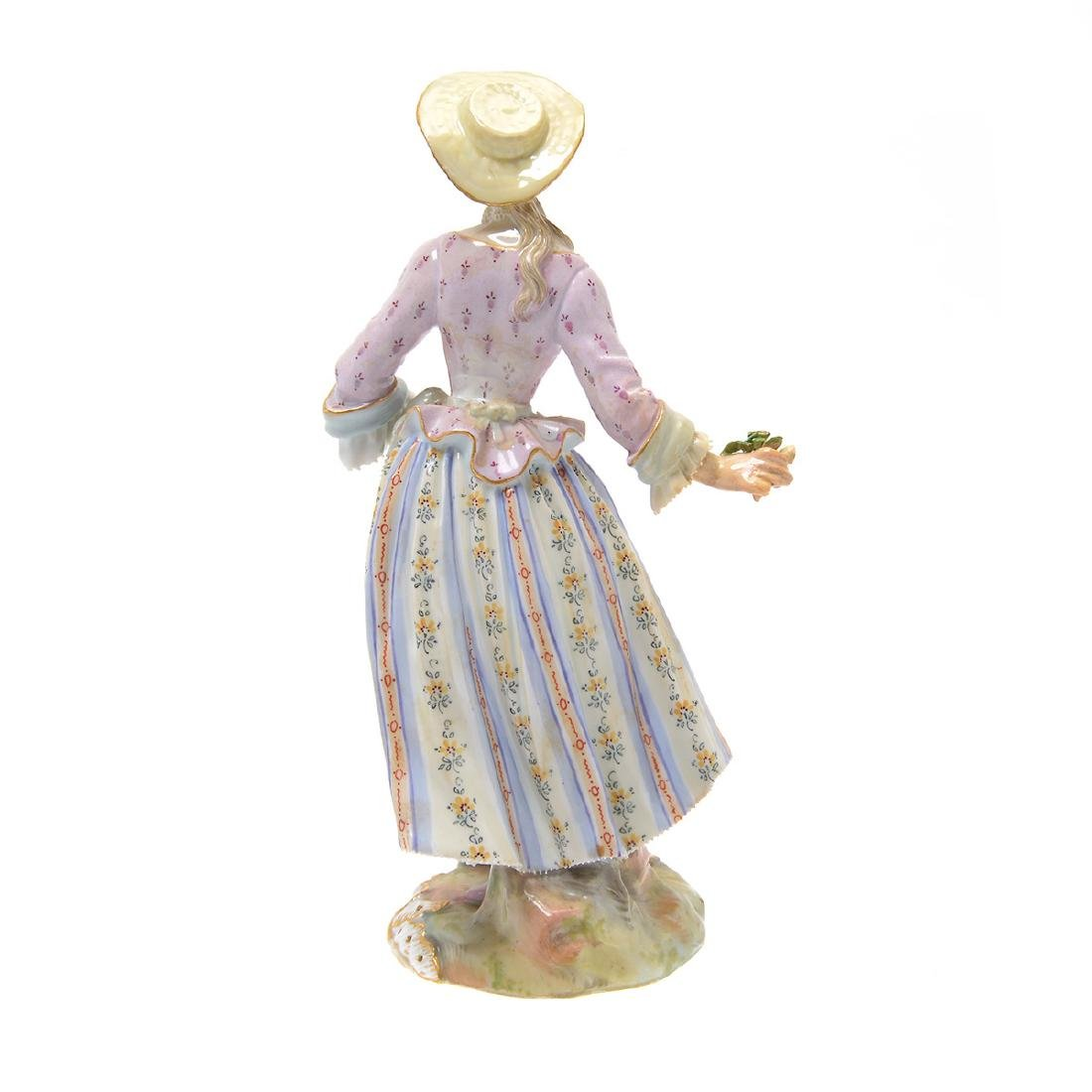 Meissen Porcelain Figure of Lady - 3