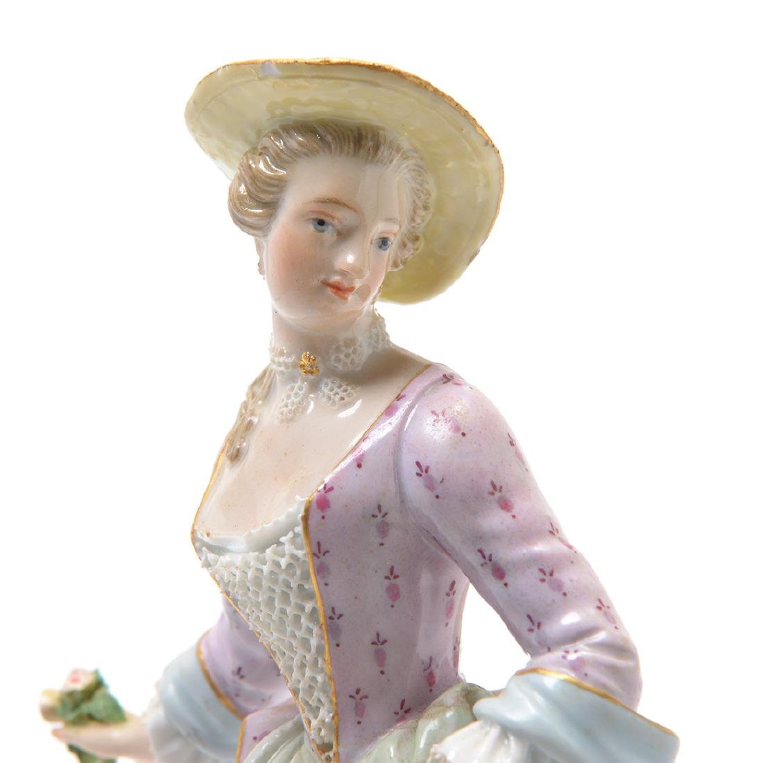 Meissen Porcelain Figure of Lady - 5