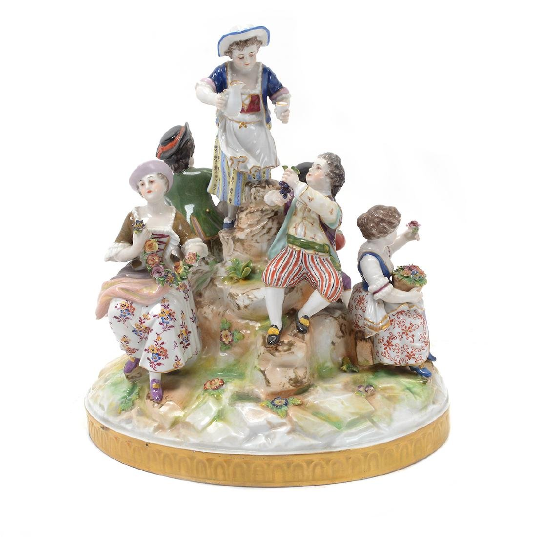 Dresden Porcelain Group of Children