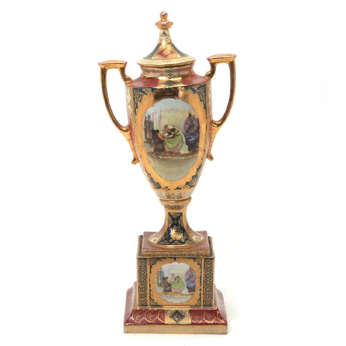 Royal Vienna Style Porcelain Urn