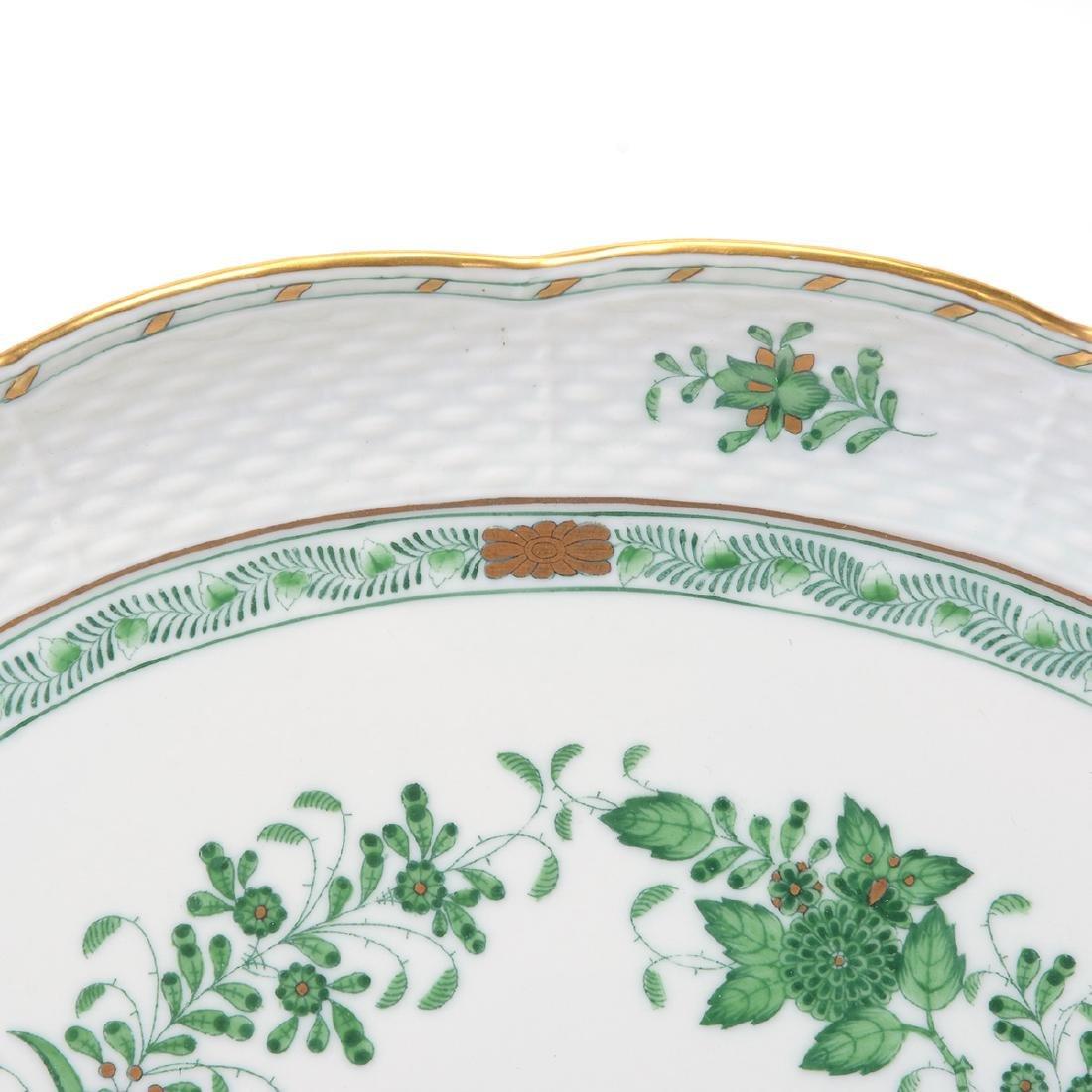 Herend Tobacco Leaf Porcelain Eight Piece Tea Service. - 10