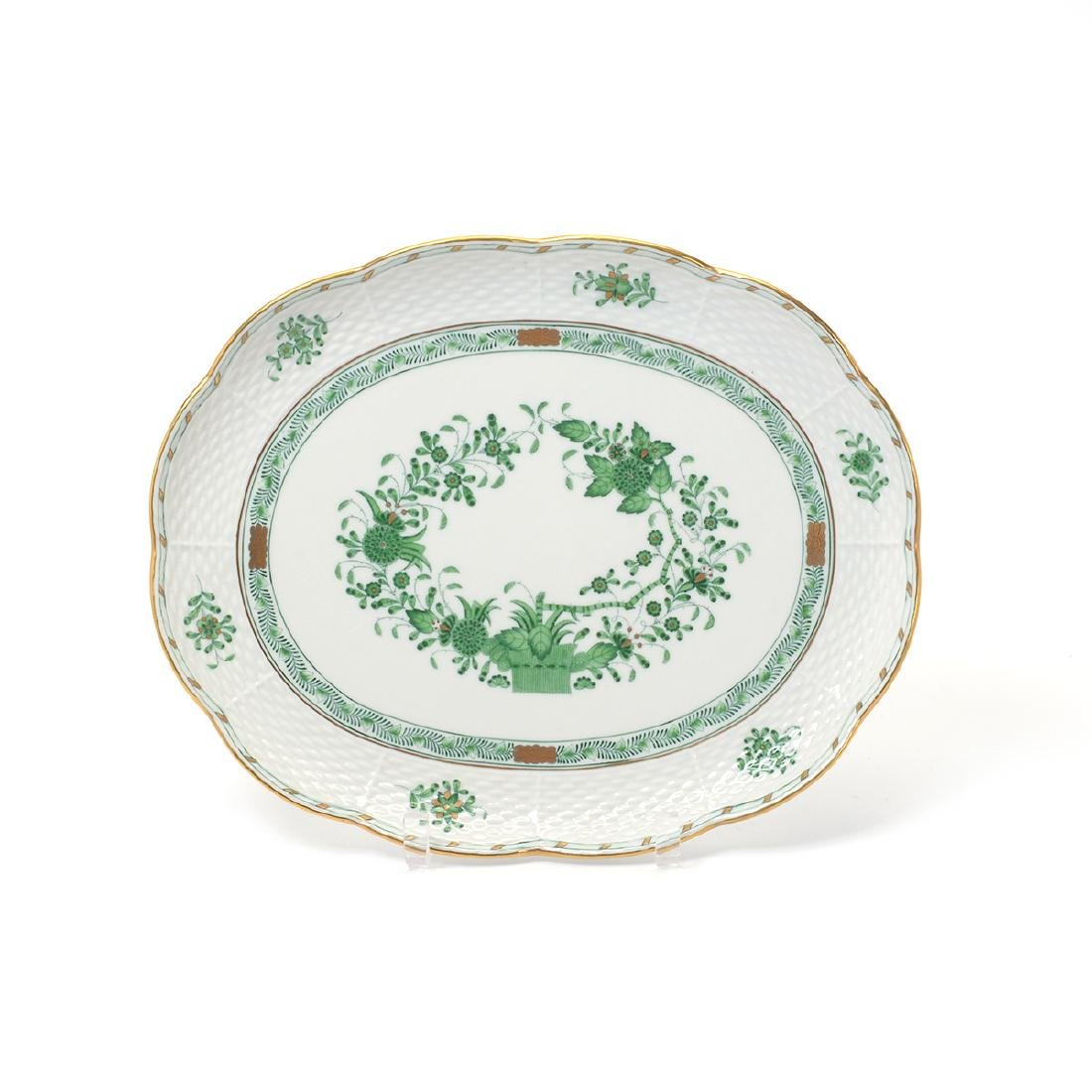 Herend Tobacco Leaf Porcelain Eight Piece Tea Service. - 2