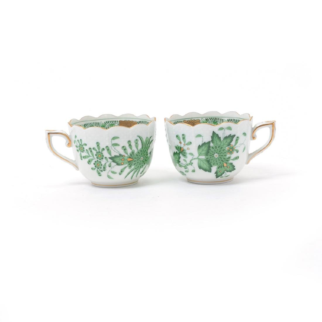 Herend Tobacco Leaf Porcelain Eight Piece Tea Service. - 3