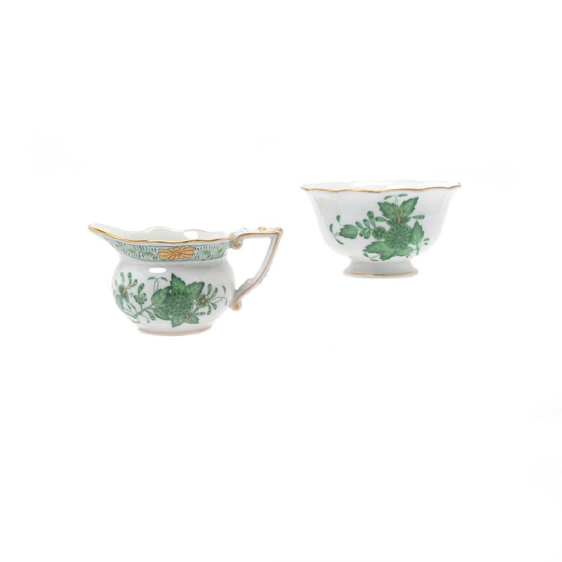 Herend Tobacco Leaf Porcelain Eight Piece Tea Service. - 5