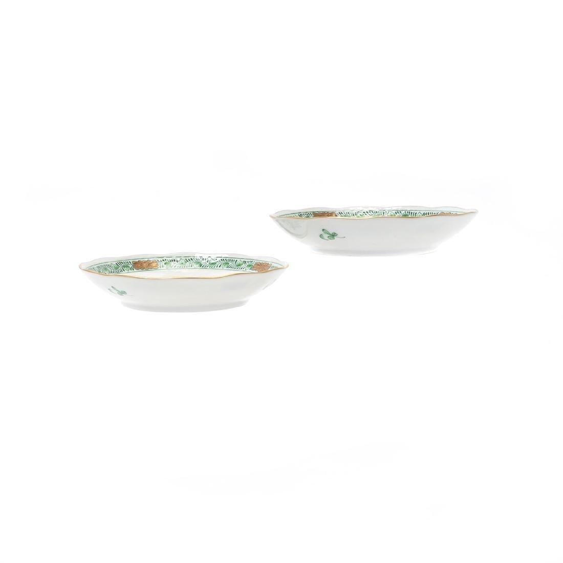 Herend Tobacco Leaf Porcelain Eight Piece Tea Service. - 6