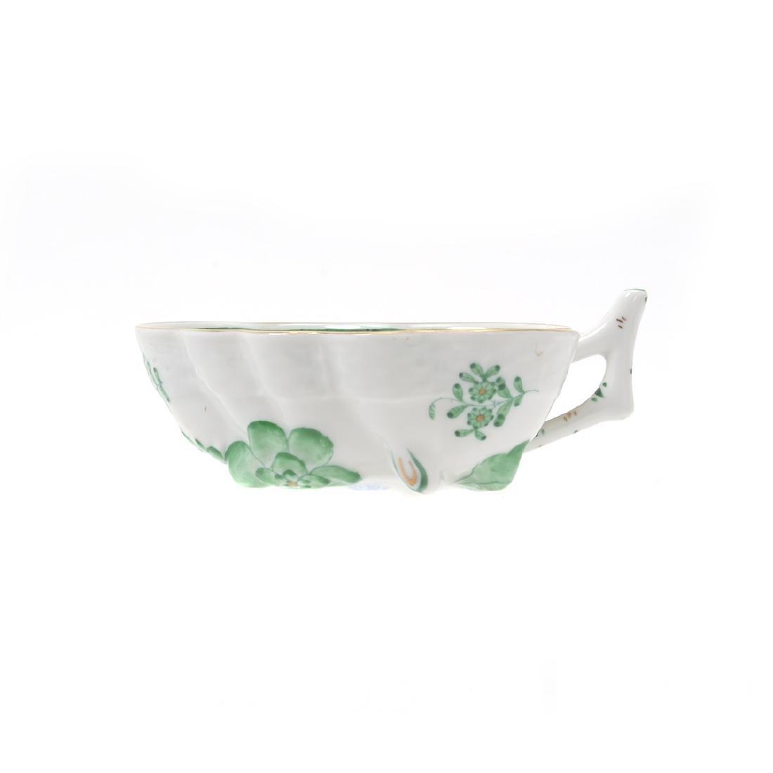 Herend Tobacco Leaf Porcelain Eight Piece Tea Service. - 7