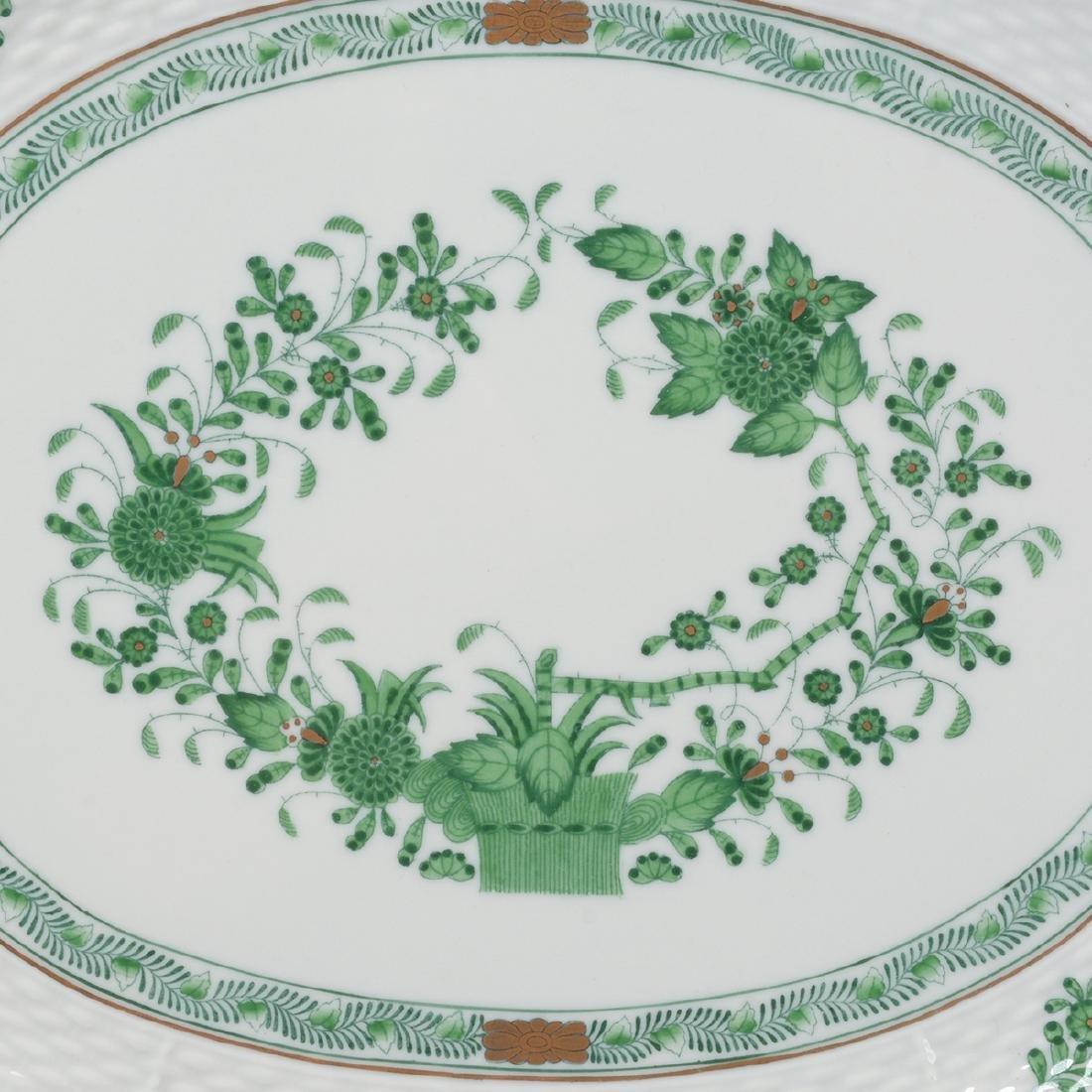 Herend Tobacco Leaf Porcelain Eight Piece Tea Service. - 9