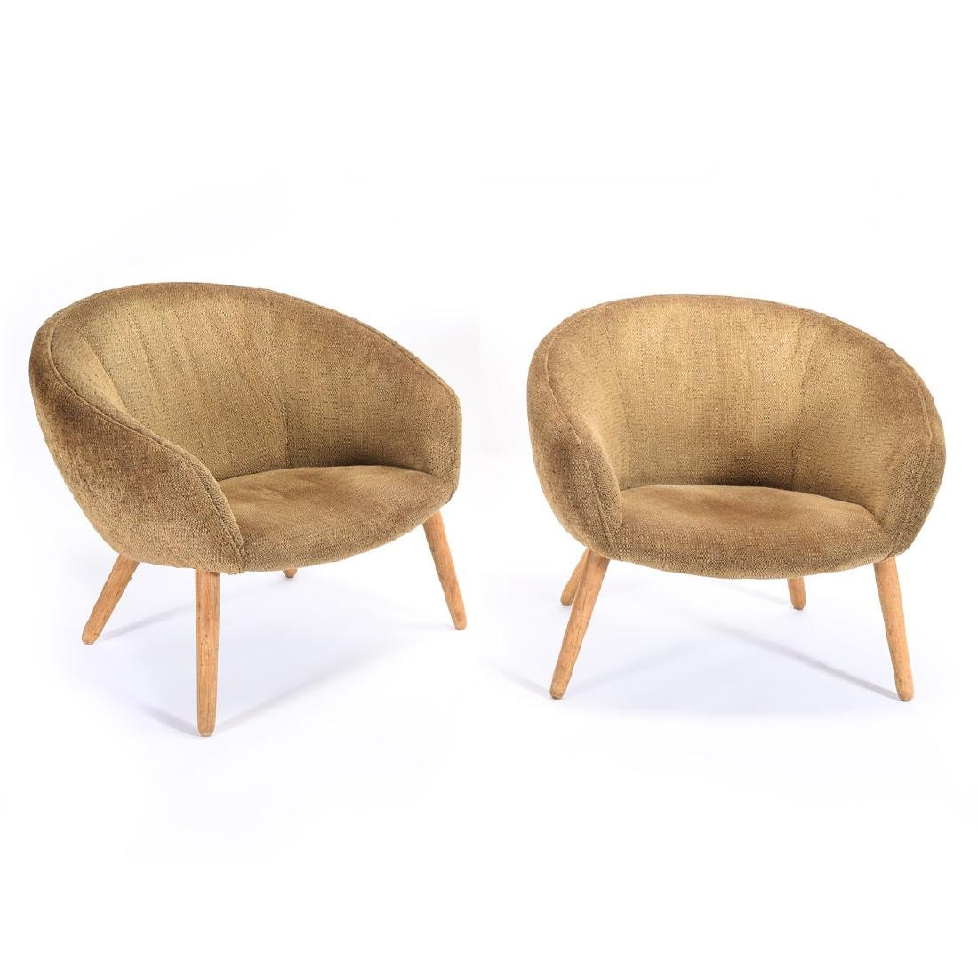 Pair Nana Ditzil AP26 Upholstered Pot Chairs