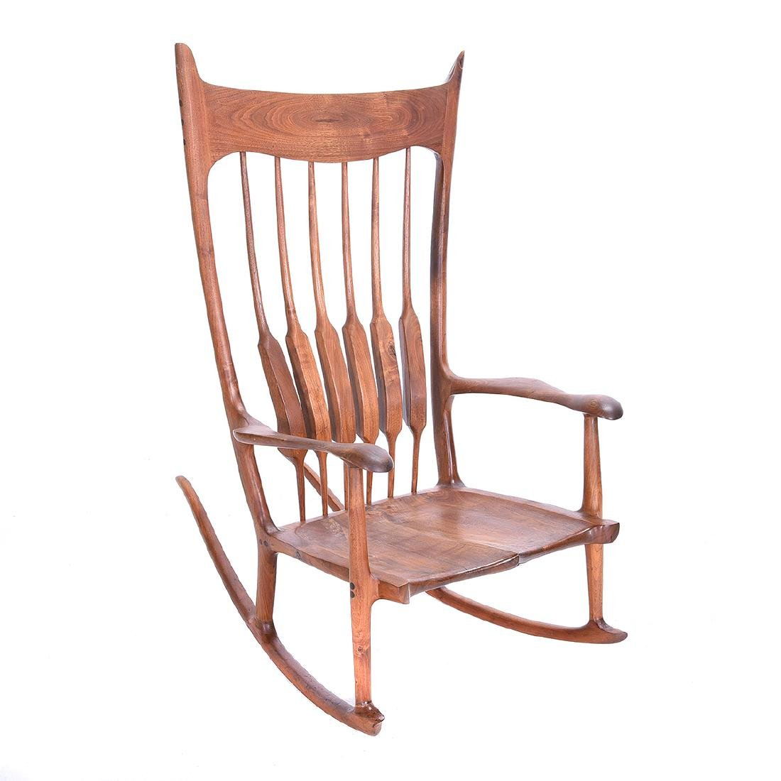 Mid Century Rocking Chair in the Style of Sam Maloof - 3