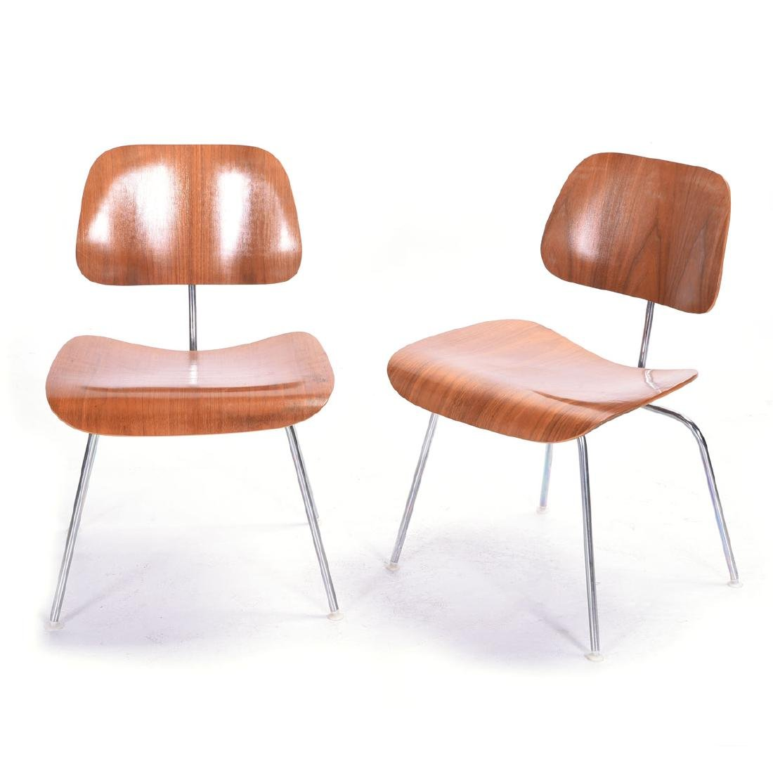 Six Charles Eames for Herman Miller DCM Ash Plywood