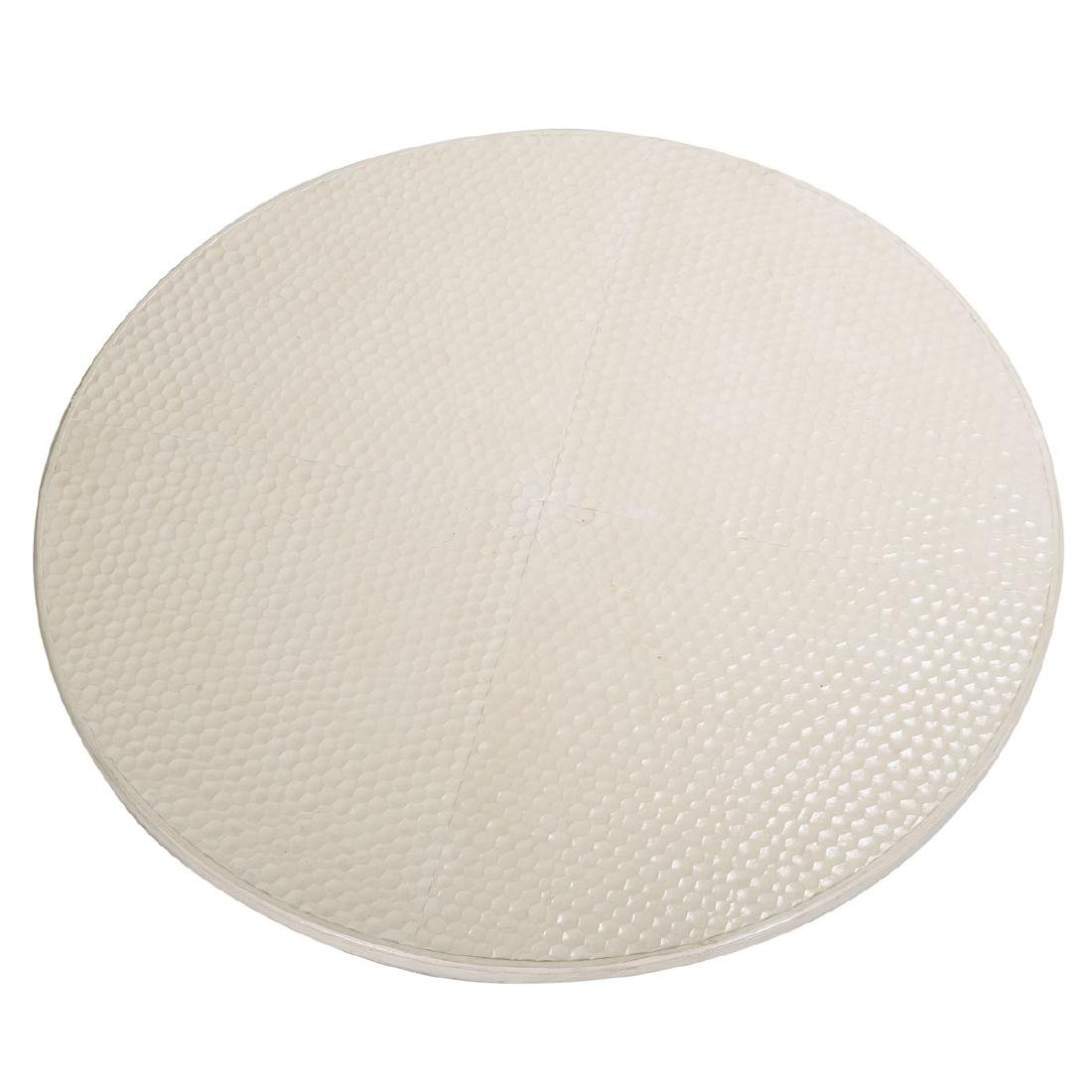 Large Contemporary White Glazed Ceramic Table Top with