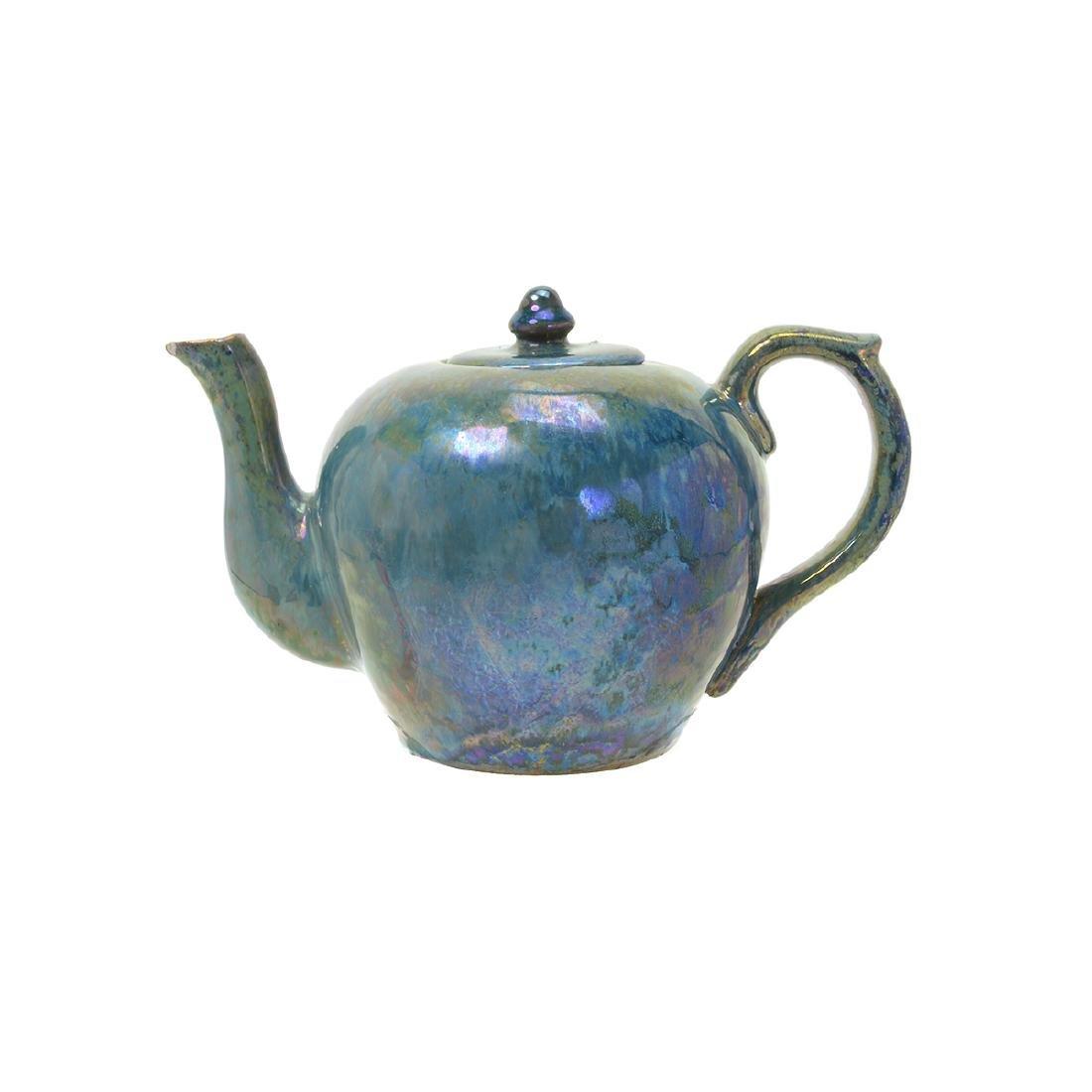 Alphonse Cytere Iridescent Art Pottery Tea Service - 2