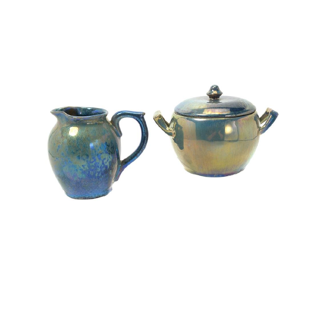 Alphonse Cytere Iridescent Art Pottery Tea Service - 3