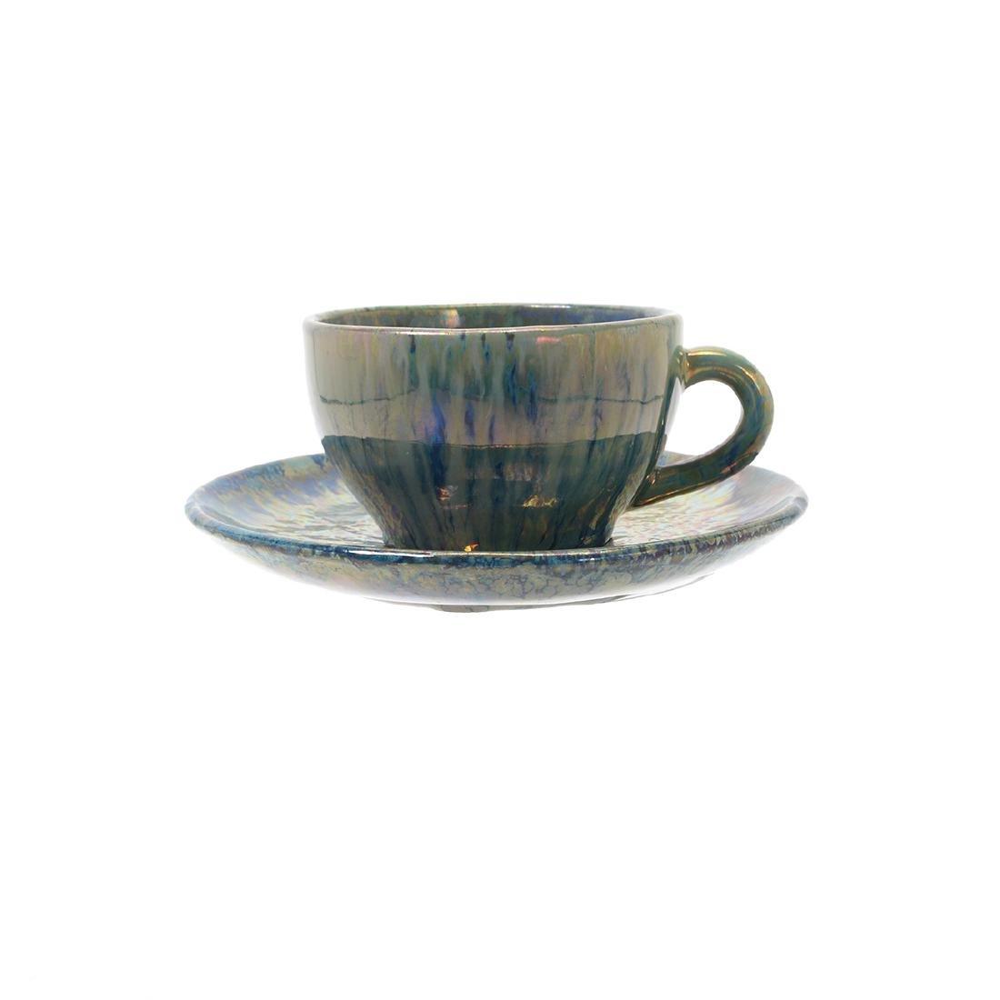 Alphonse Cytere Iridescent Art Pottery Tea Service - 4