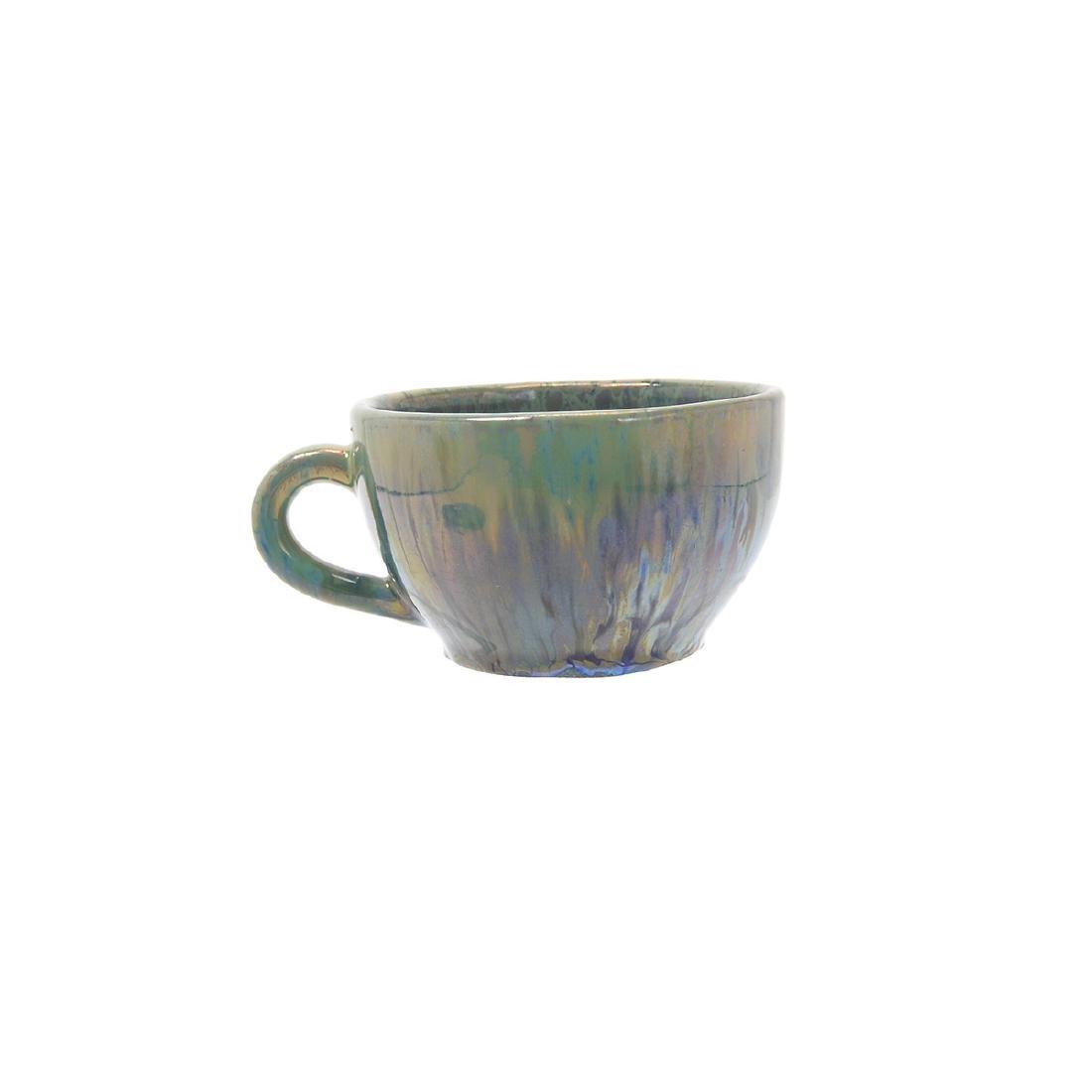 Alphonse Cytere Iridescent Art Pottery Tea Service - 5