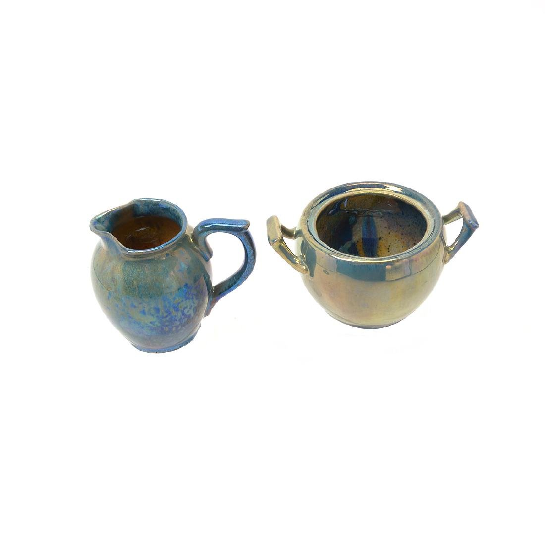 Alphonse Cytere Iridescent Art Pottery Tea Service - 9