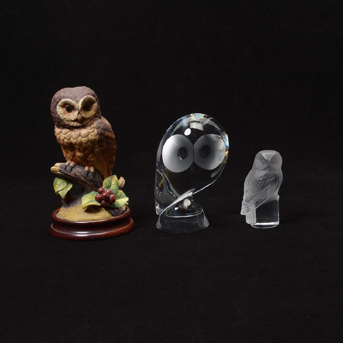 Three Owls: Steuben, Lalique and Boehm