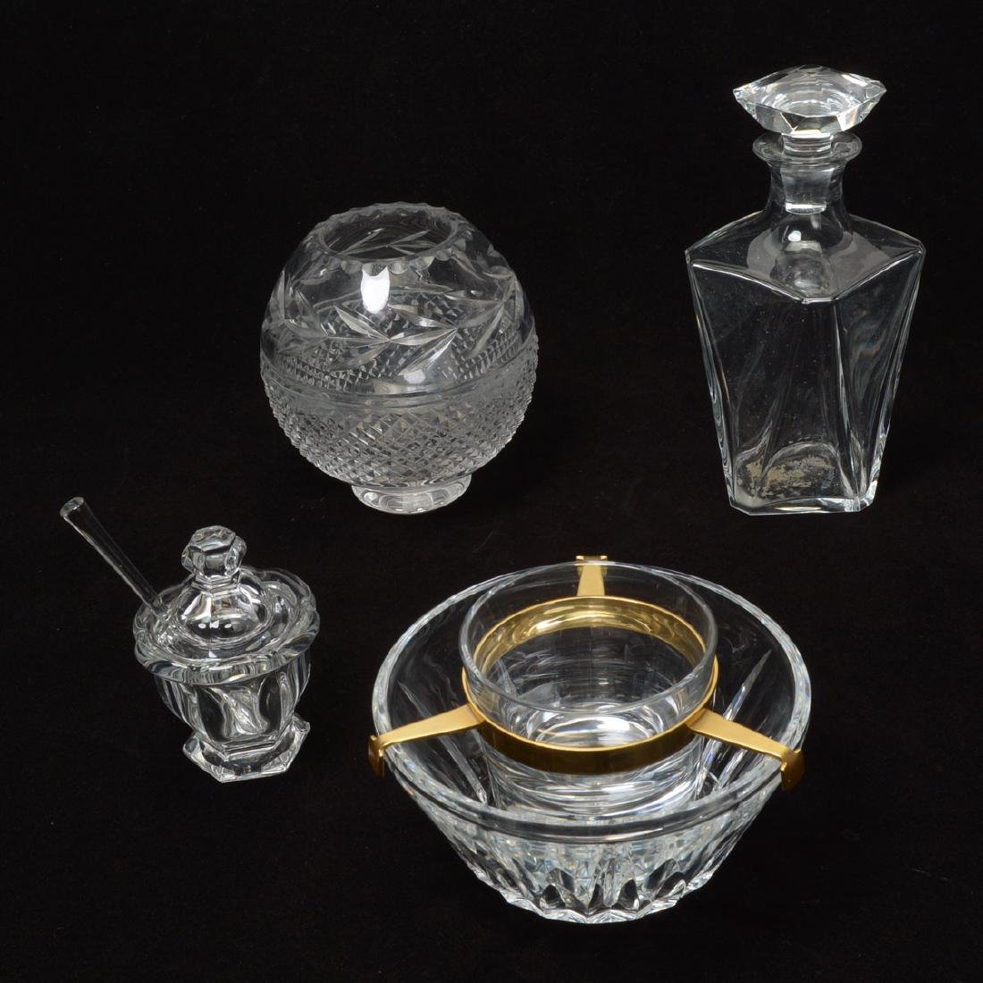 Baccarat Decanter, Caviare Server and Covered Jar with