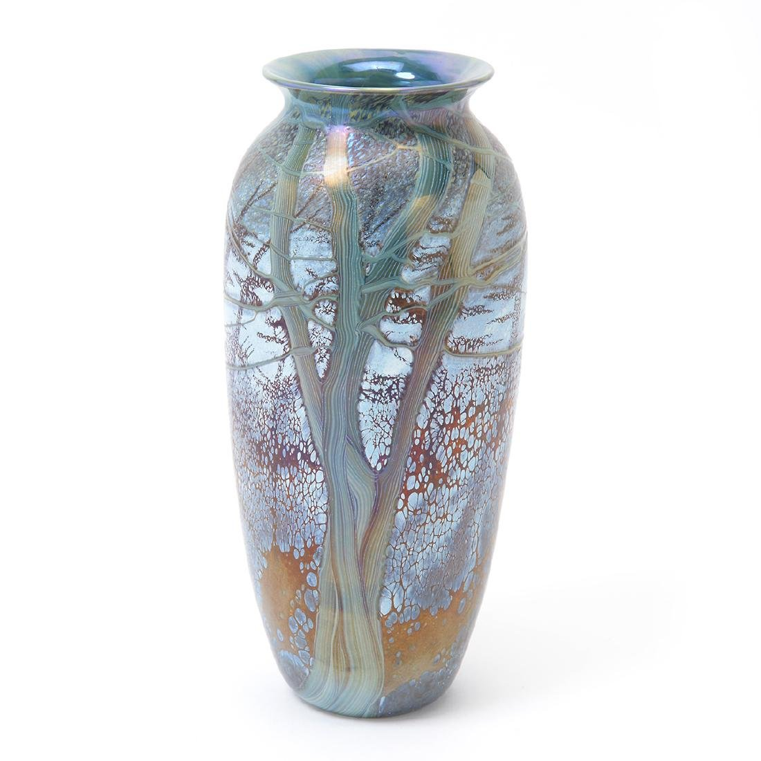 Two Richard Satava Art Glass Vases - Interior Lily and - 6