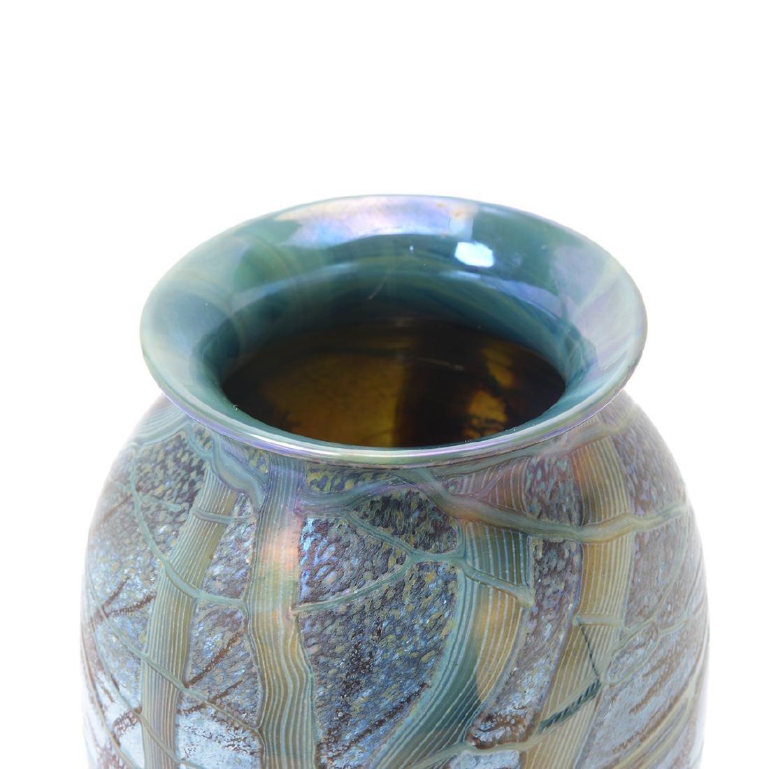 Two Richard Satava Art Glass Vases - Interior Lily and - 7