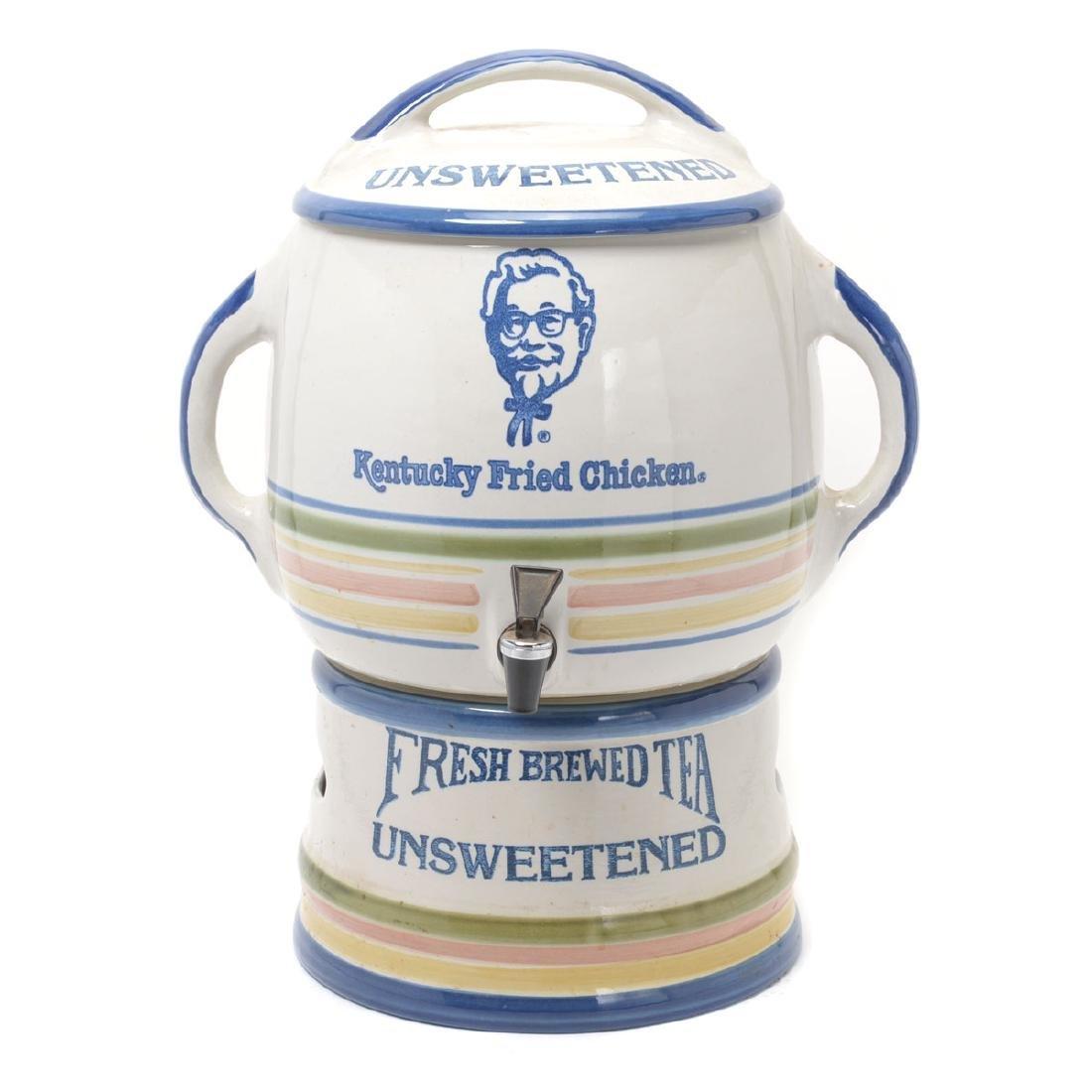 """""""Kentucky Fried Chicken"""" Stoneware Iced Tea Dispenser"""
