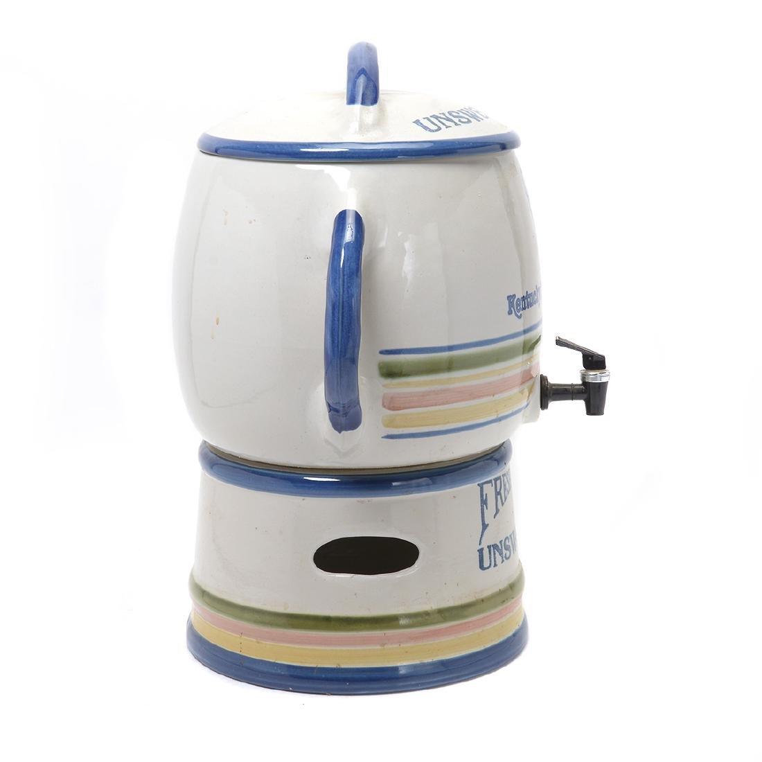 """""""Kentucky Fried Chicken"""" Stoneware Iced Tea Dispenser - 3"""