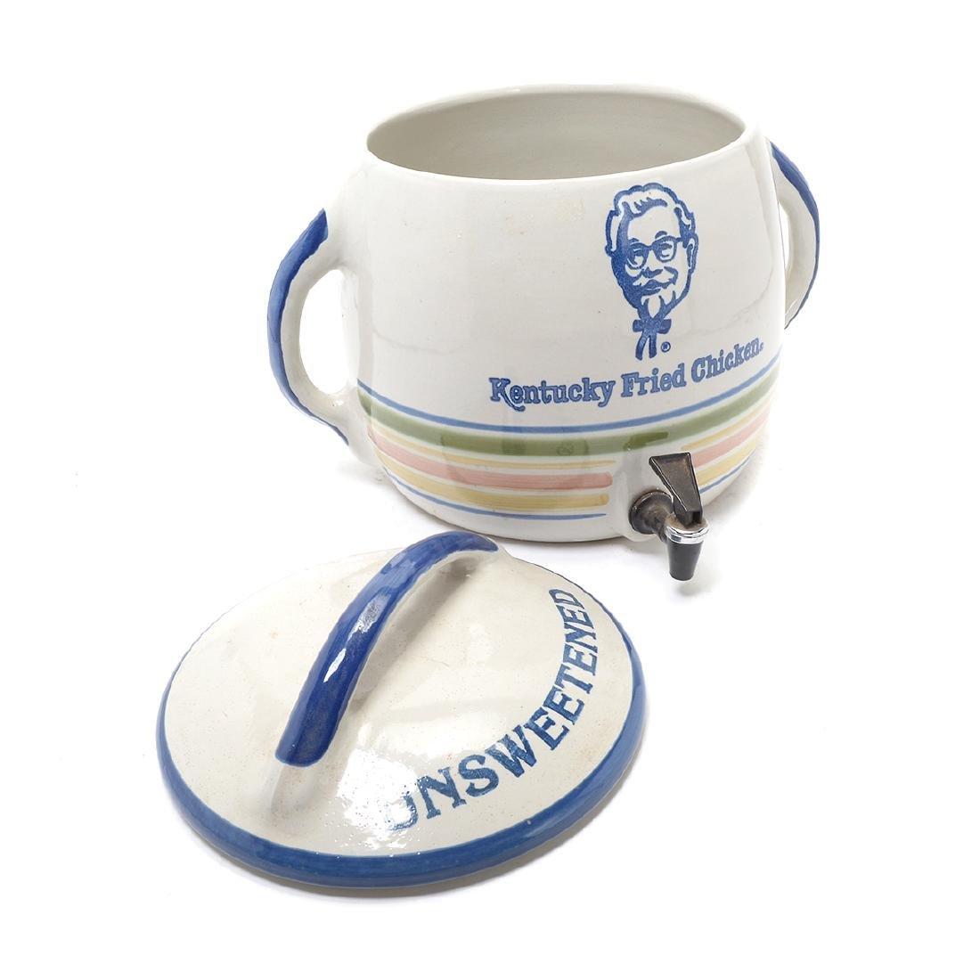 """""""Kentucky Fried Chicken"""" Stoneware Iced Tea Dispenser - 6"""