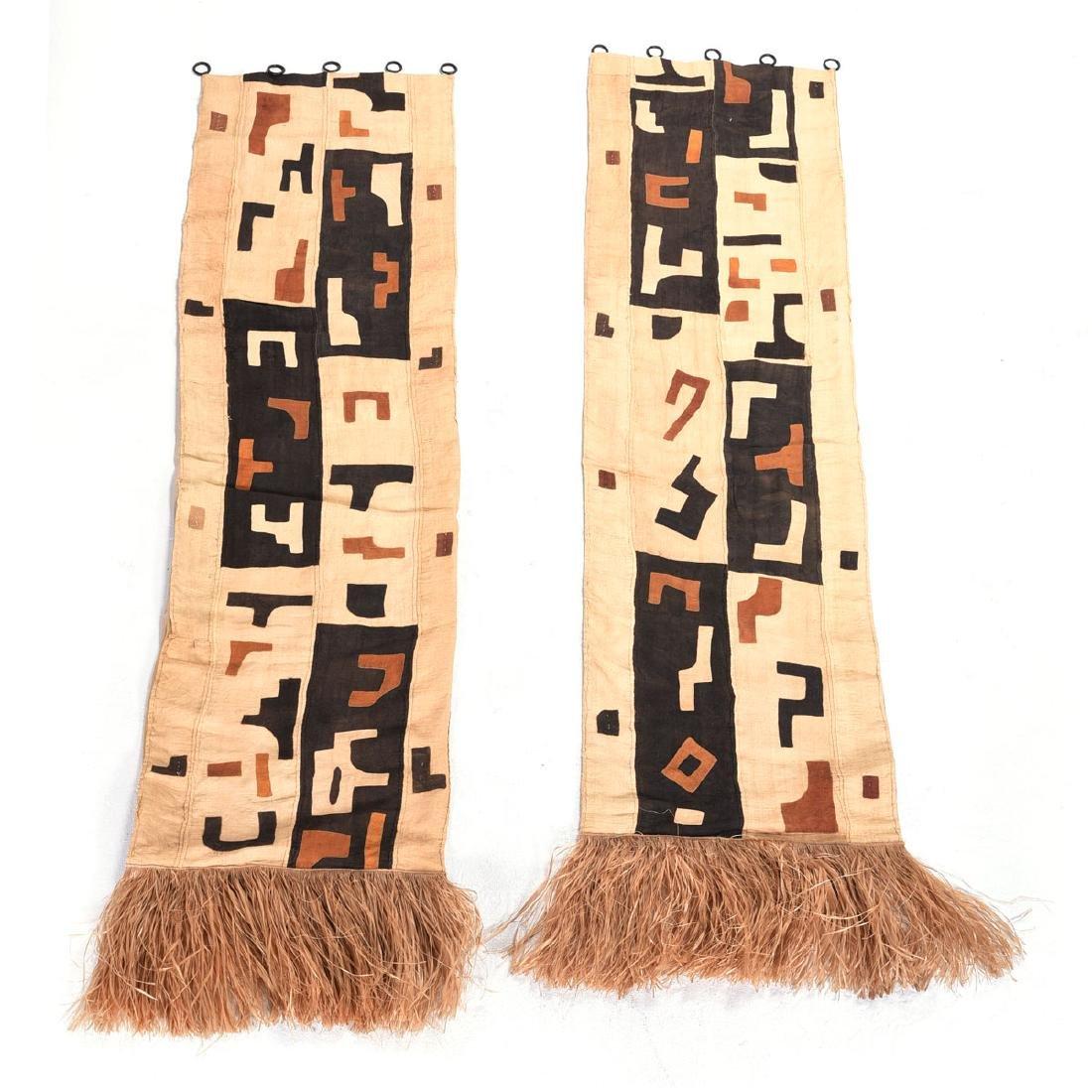 Pair of Kuba Tapestries