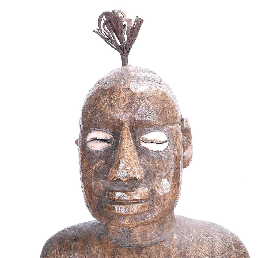 D. R. Congo Songye Seated Male Power Figure - 2