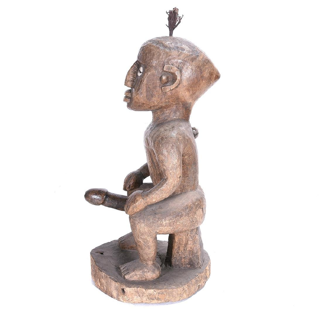 D. R. Congo Songye Seated Male Power Figure - 3