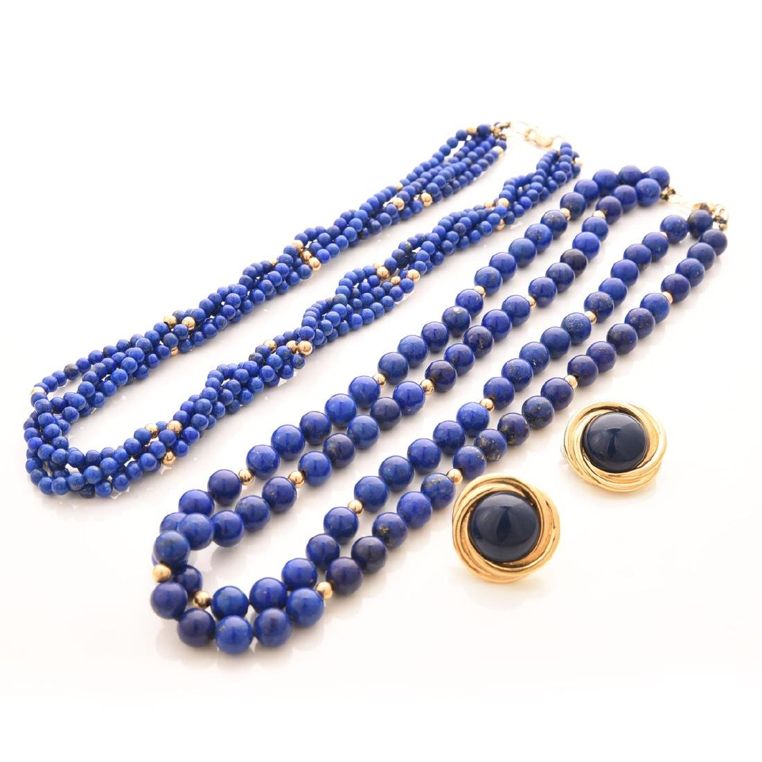 Collection of Lapis Necklaces, together with Trifari