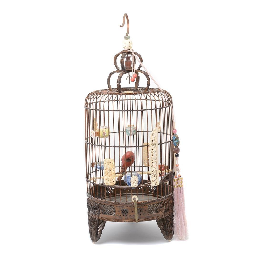 Bamboo Cylindrical Bird Cage