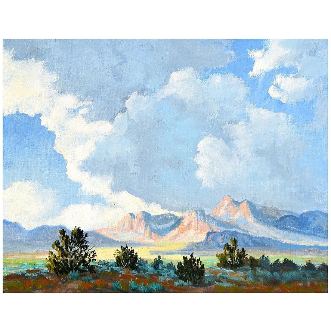 "Walter Bambrook ""Big Sky Landscape"" oil on canvas"