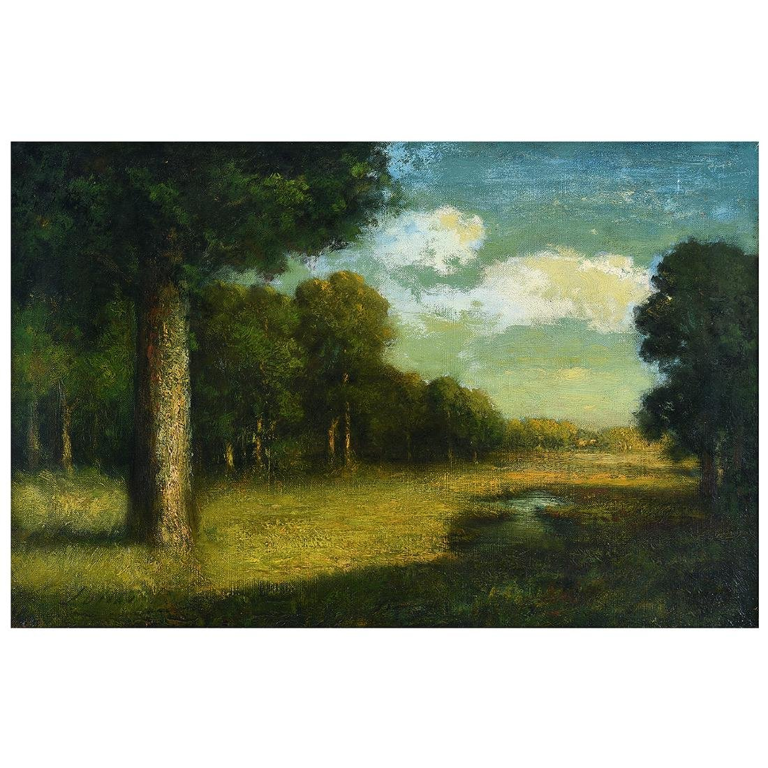 "Julian Rix ""River Landscape"" oil on canvas"