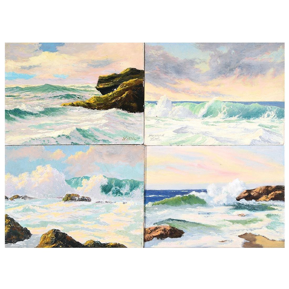 """Howard Little 4 """"Seascape Studies"""" oil on board"""