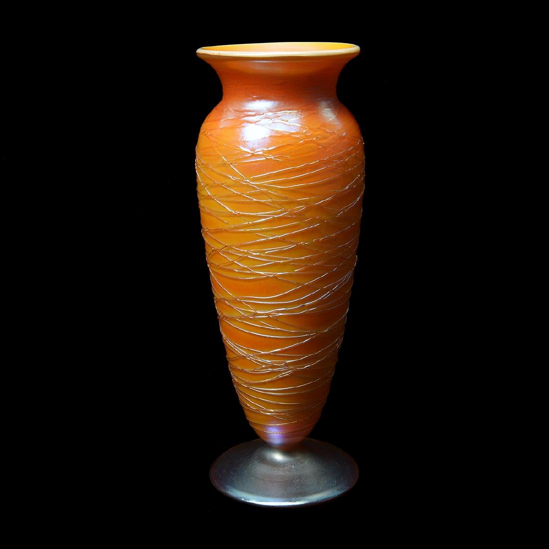 Durand Swirl Opalescent Vase