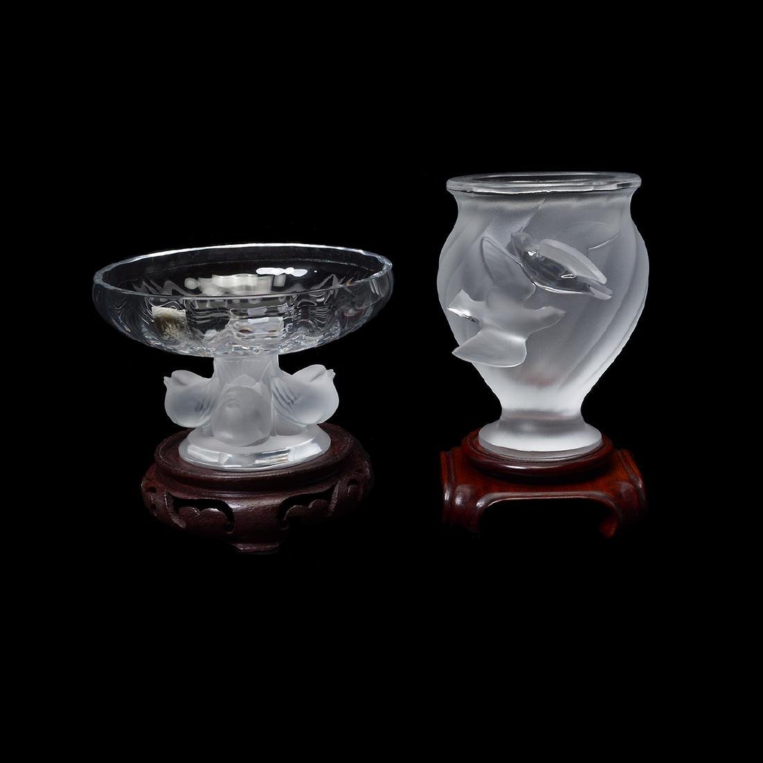 Two Lalique Vases: Rosine and Nogent