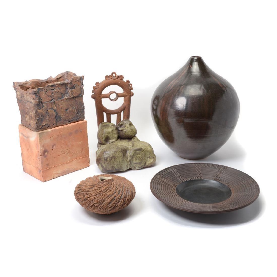 Five Ceramic Studio Pottery Pieces.