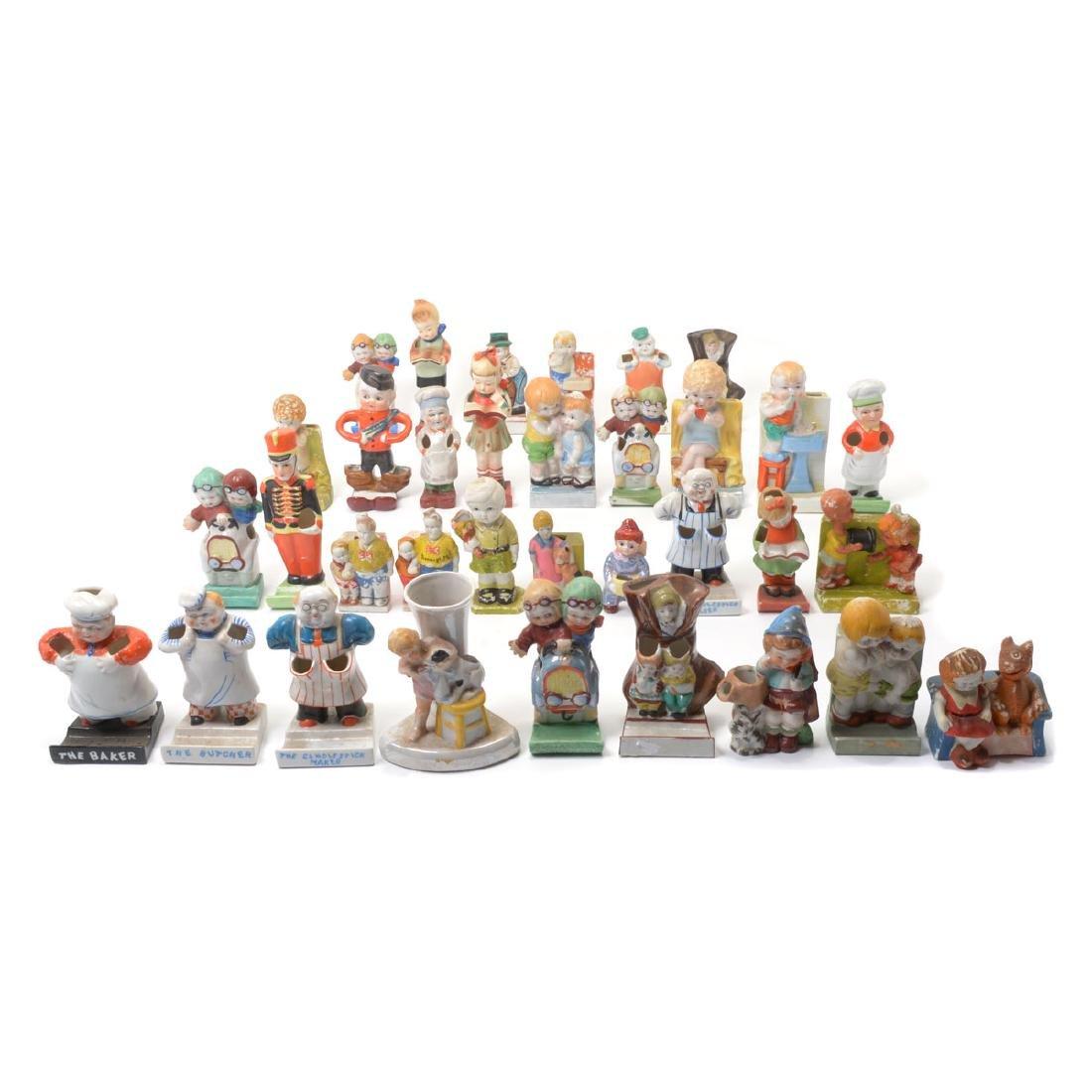 Group of Vintage Ceramic Figural Toothbrush Holders