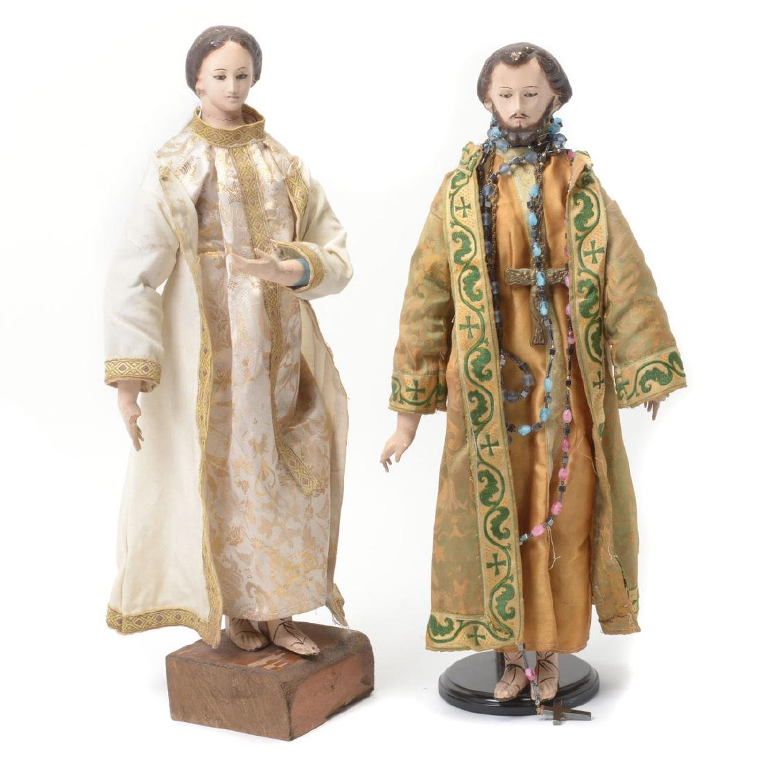 Two Spanish Colonial Santos Figures