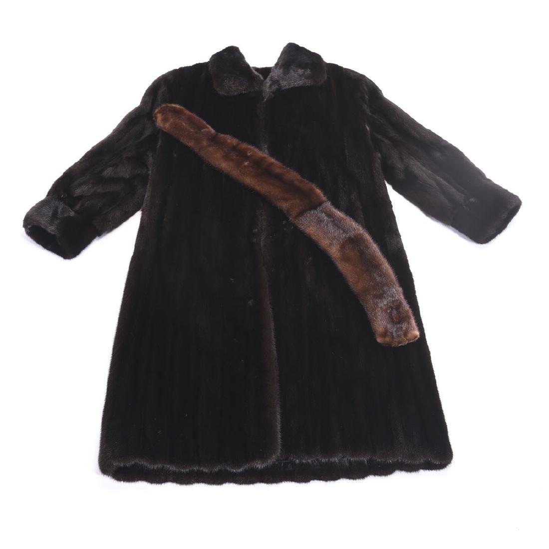 Oscar de la Renta Natural Ranch Mink Coat