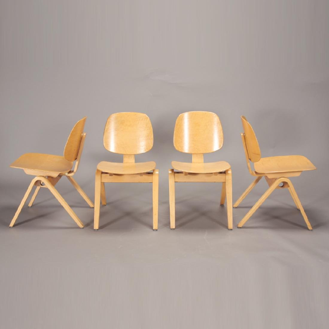 Four Joe Atkinson Chairs Made for Thonet.