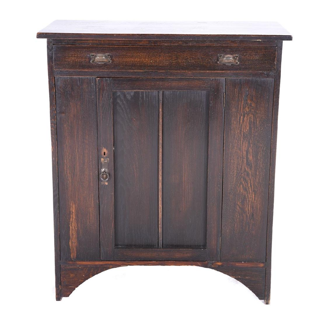 Arts and Crafts Oak Low Cabinet