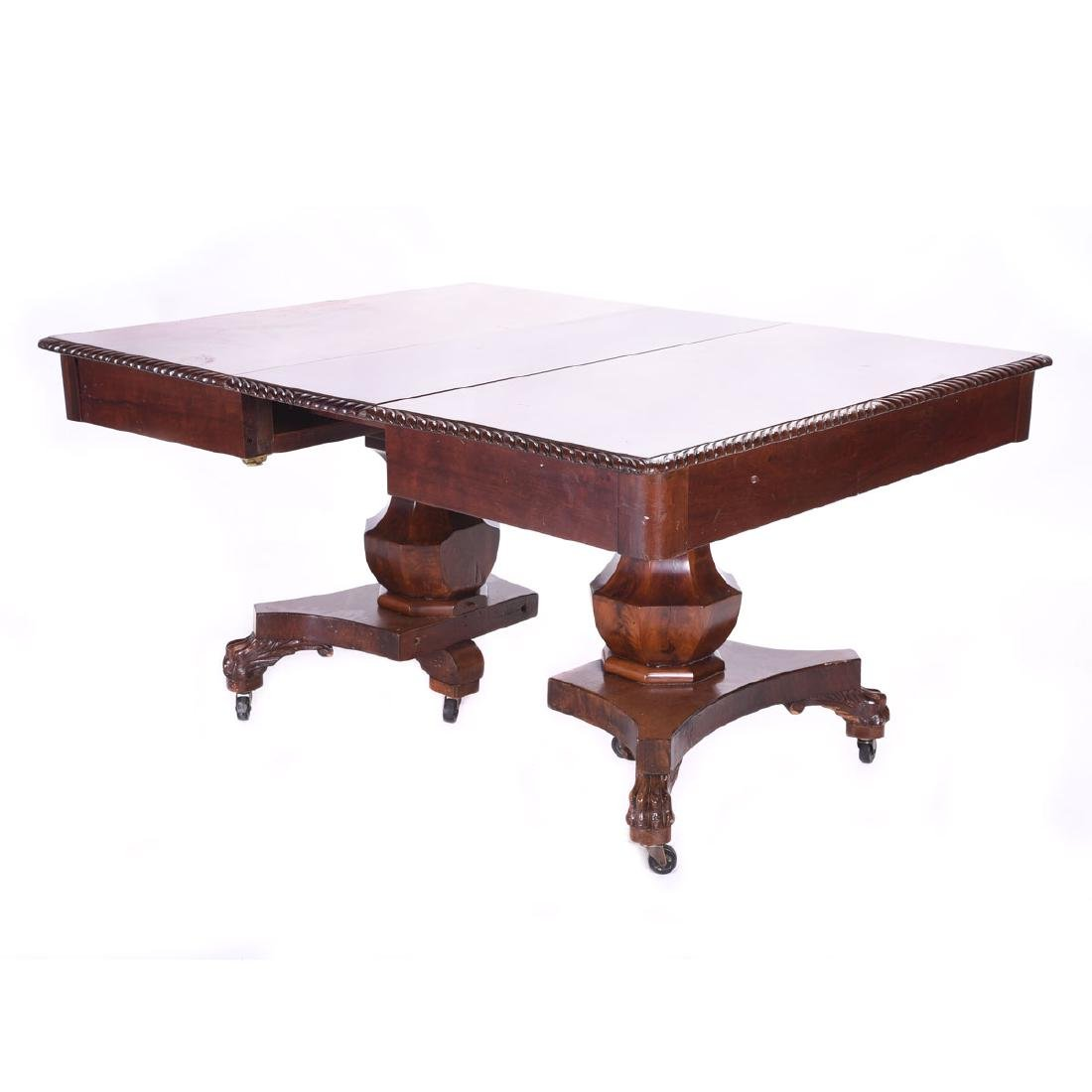 American Classical Revival Mahogany Dining Table with