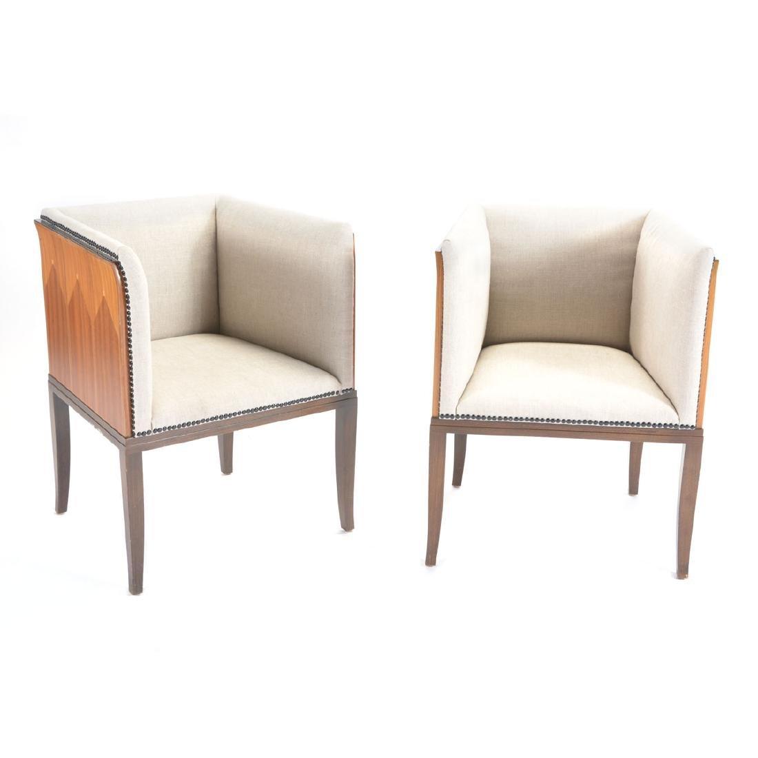 Eliel Saarinen, Pair of Upholstered Armchairs