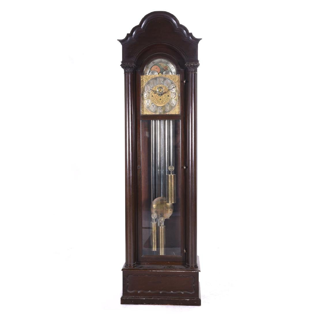 Large Mahogany Westminister Chimes Long Case Clock (Key