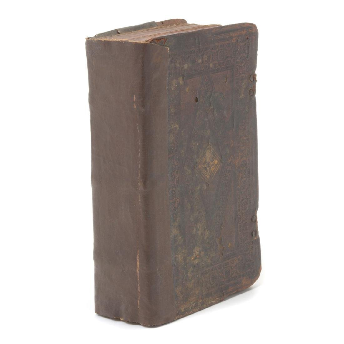 Tooled Leather Bound Volume of Cicero Letters in Latin