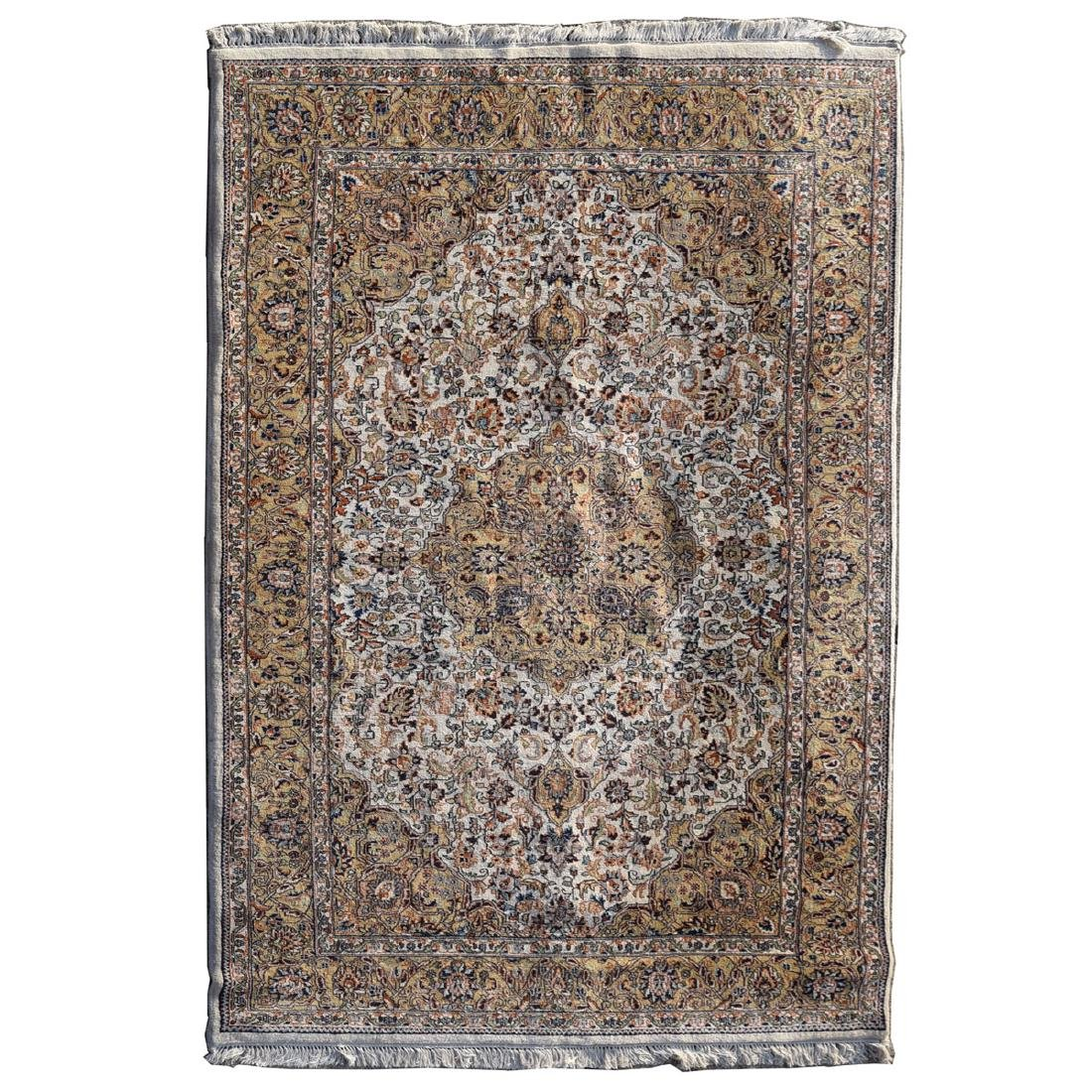 "Indian Style Rug in Light Brown Tones (78"" x 117"")"